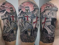 Aztec Warrior Tattoos Half Sleeve Grey Ink Warriors Half Sleeve