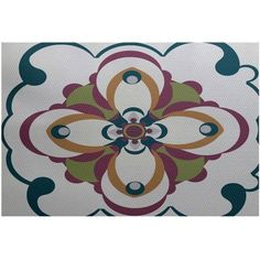 Simply Daisy 5' x 7' Kaleidoscope Too Geometric Print Indoor Rug, Gray