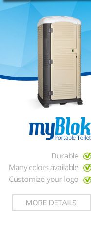 Myblok #PortableRestroom  can be #Customized in many #colors and even with #YourCompanyLogo