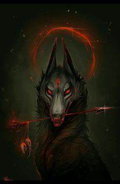 Dark Fantasy is the Best Fantasy Dark Fantasy Art, Fantasy Kunst, Fantasy Wolf, Dark Art, Fantasy Demon, Demon Art, Anime Wolf, Art Noir, Demon Wolf