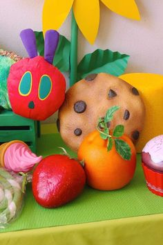 You need to see this Very Hungry Caterpillar birthday party! See more party ideas at http://CatchMyParty.com!