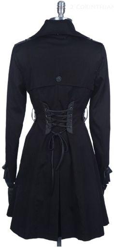 Black Chic Corset Coat from www.shopftgs.com