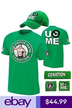 John Cena Mens Green Costume Hat T-shirt Wristbands Costume Hats, T Shirt Costumes, John Cena Costume, Wwe Superstar John Cena, Winter Wear For Men, Wwe Party, Wwe Shirts, Green Costumes, Halloween Costumes For Kids