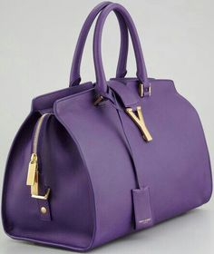 Saint Laurent Cabas Chyc Medium Soft Leather Bag in Purple (amethyst) - Lyst Love a satchel Beautiful Handbags, Beautiful Bags, Hello Beautiful, Purses And Handbags, Leather Handbags, Purple Handbags, Purple Purse, Handbags Online, Purple Bags