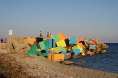 Massimo - public art, artificial reef painted for festival Art Public, Street Art Utopia, Land Art, Installation Art, Landscape Architecture, Cuba, Graffiti, Creative, Outdoor Decor