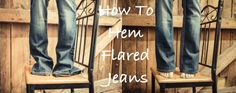 How to shorten a pair of jeans leaving the original hem in tact