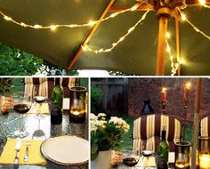 Backyard BBQ Party Ideas: Lighting and Decor