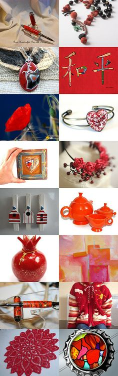 Red color explosion by Monika on Etsy--Pinned with TreasuryPin.com
