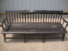 ANTIQUE-PRIMITIVE-ARROWBACK-BENCH