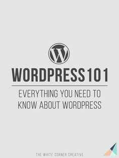 Wordpress 101 is a series dedicated to helping new users get to know Wordpress.org and become experts in no time at all.