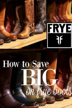 Score frye boots, outfit, fall style boots for less! Frye Riding Boots, Frye Boots, Money Saving Tips, Saving Ideas, Money Tips, Frugal Family, Frugal Living, Country Wear, The Frye Company