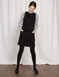 Trafalgar Modern Dress | Black Denim | Boden