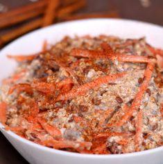 Vegane Overnight Oats mit Karotten