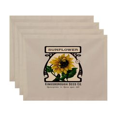 E by Design 18 x 14-inch Sunflower Print Placemat