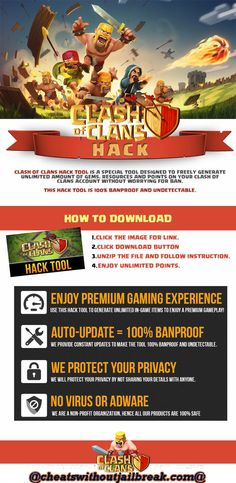 Today we have released a brand new version of our Clash of Clans hack no Survey. It's very simple to use and contains the most desired features that Clash of Clans players have asked to add. I'm talking about a gems hack, elixir hack and gold hack. Clash Of Clans Cheat, Clash Of Clans Game, Clash Clans, Online Sites, Hack Online, Hay Day, Clash Royale, Tool Design, Cheating