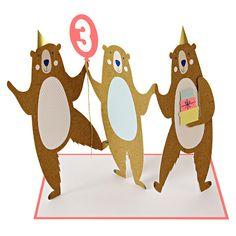 Meri Meri: Three Bears Birthday Card