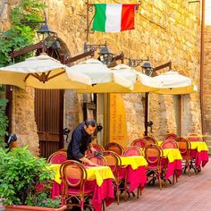 Imagine that someone is getting ready to serve you dinner in a small plaza in Italy.  When are you planning to visit next?