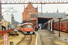 Helsingør, august 1991, ca. et års tid efter, at den nye endestation er taget i brug