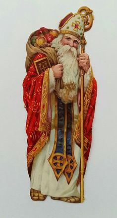 scrap Saint Nicolas Sankt Nikolaus Sint Nicolaas saint Nicolas en pain d'épices .