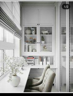 Home Office Decor Interior Balcony, Apartment Balcony Decorating, Balcony Design, Apartment Design, Small Space Interior Design, Home Office Design, Home Office Decor, Interior Design Living Room, House Design