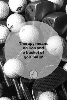 This is what therapy means to a golfer! For more #golf inspiration, follow Lori's Golf Shoppe