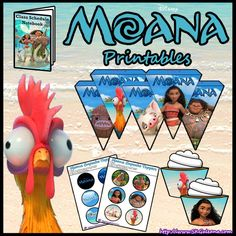 Free Printable crafts, activities and party supplies for Disney's new animated feature, Moana! Featuring Maui, Pua, Hei Hei and Moana! Moana Themed Party, Moana Birthday Party, Moana Party, Luau Birthday, Luau Party, 4th Birthday Parties, Birthday Ideas, Girl Birthday, Moana Printables