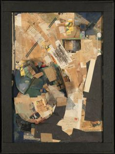 Kurt Schwitters, 'Picture of Spatial Growths - Picture with Two Small Dogs' 1920-39