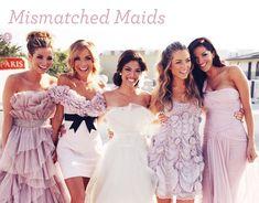 Fashion: Mismatched Bridesmaid Dresses