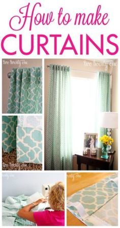 Make Your Own Beautiful DIY Curtains; Full Tutorial