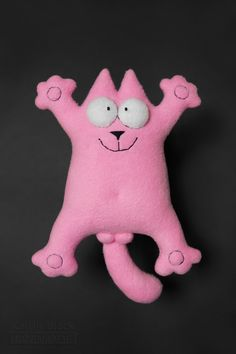 Розовый кот из флиса. #Handmade #Toy #Hobby #Cat #Кот #КотСаймона #Игрушка