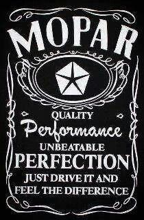 Anyone need a Mopar drink....
