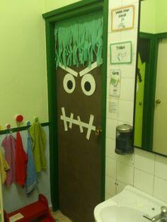 Puerta baño halloween