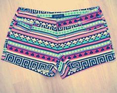 Tribal/Aztec Print Shorts — FoxerBox