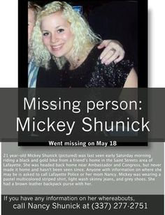 Please repin. I know a lot of people follow my Disney board. Please help her family and this community find her.