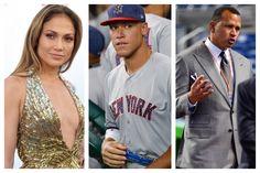 Jennifer Lopez, left; Yankees right fielder Aaron Judge, center; and Alex Rodriguez. (File photos)