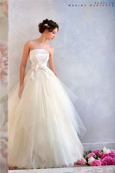 Wedding dress ideas for tulle under top fabric