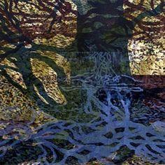 Grafik Skyum, Hanne Tryk. Udsnit af træsnit - unika Pencil Portrait Drawing, Abstract Trees, Photo Tree, People Art, Printmaking, City Photo, Landscapes, Graphics, Drawings