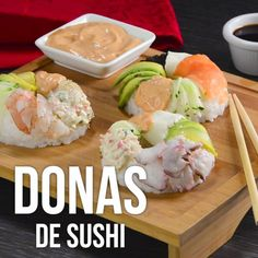 Seafood Menu Ideas Ideas For 2019 Asian Recipes, Mexican Food Recipes, Healthy Recipes, Sushi Donuts, Sushi Ya, Sushi Food, Clean Eating Recipes, Cooking Recipes, Sushi Roll Recipes