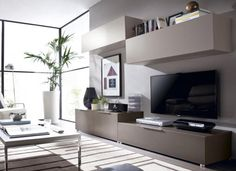 Contemporary Wall Cabinets, TV Unit and Sideboard Combination by Rimobel