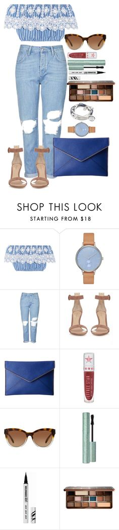 """""""Untitled #1508"""" by fabianarveloc on Polyvore featuring Miguelina, Skagen, Topshop, Gianvito Rossi, Rebecca Minkoff, Jeffree Star, Michael Kors, Too Faced Cosmetics, Bare Escentuals and Lizzy James"""