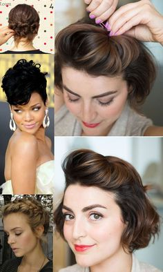 penteados para cabelo curto e médio