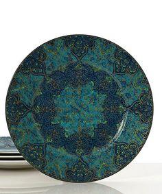 Look what I found on #zulily! Blue Opulent Dinner Plate - Set of Four #zulilyfinds