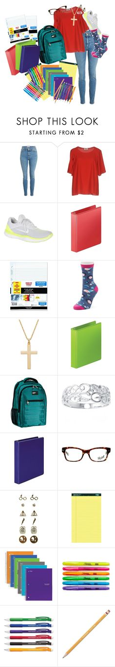 """""""Back to School (RTD,please!)"""" by amayahawthorn ❤ liked on Polyvore featuring Sonia by Sonia Rykiel, NIKE, Wilson Jones, Mobile Edge, Belk Silverworks, Persol, Warner Bros., Mead, Sharpie and Paper Mate"""