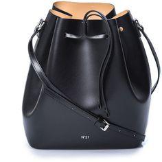 NO.21 (27.170 RUB) ❤ liked on Polyvore featuring bags, handbags, shoulder bags, bolsas, leather shoulder bag, bucket bags, hand bags, handbags crossbody and leather shoulder handbags