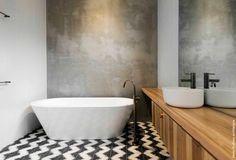 popham design :: cement tiles :: handmade in morocco, Pattern: Zig Zag on One - Colors: Kohl & Milk