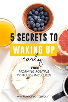 5 Secrets To Waking Up Early + FREE Printable
