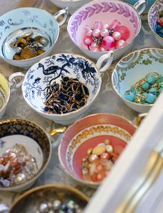 Organizing Drawers with Teacups