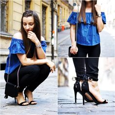 http://ajmissindependent.blogspot.com/2016/06/05062016-off-shoulder-top.html  #outfit #classic #daily #denim #off #shoulders #top #jeans #high #heels #sandals #black #tassel #bag