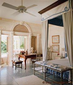 Barbados Residence - Master Bedroom    | Nicky Haslam Design
