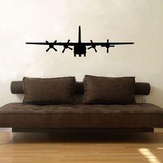 Military C130 Cargo Aircraft Airplane Vinyl Wall Window Decal Decor Sticker | eBay